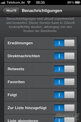 Tweetbot Push-Einstellungen