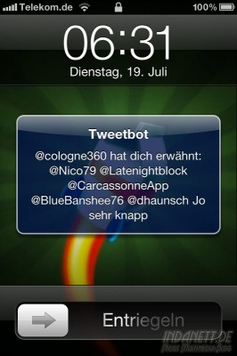 Tweetbot Push-Benachrichtigung