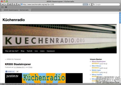 Screenshot Küchenradio 305