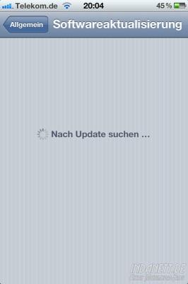 iOS 5.01 - Updatesuche