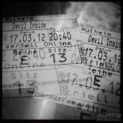 "Kinokarten ""Devil Inside"""