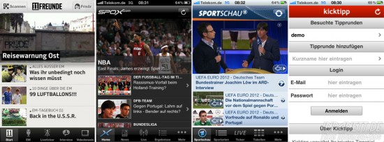 Screenshots Fußball-Apps