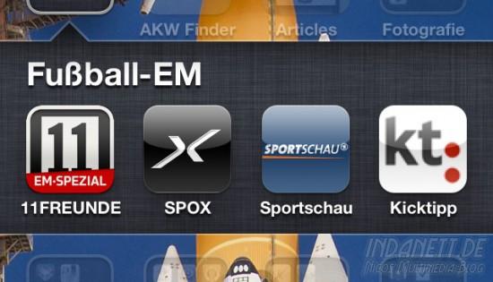 Apps für die Fußball-EM 2012