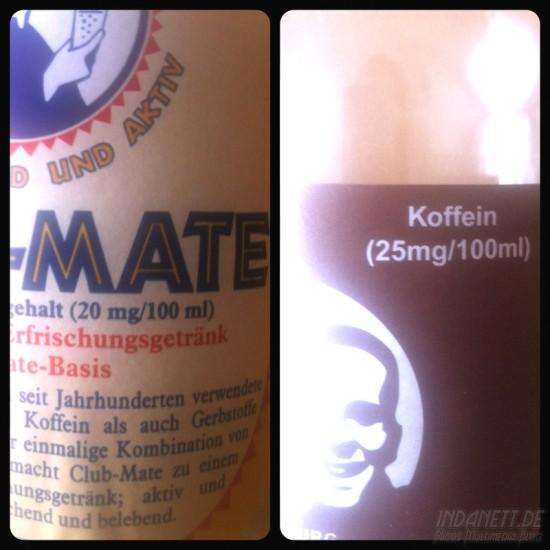 Vergleich Club Mate und Fritz Kola