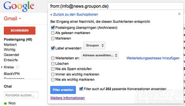 Google Mail-Filter