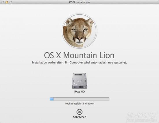 Mountain Lion - Installation
