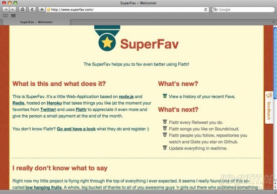 SuperFav-Screenshot