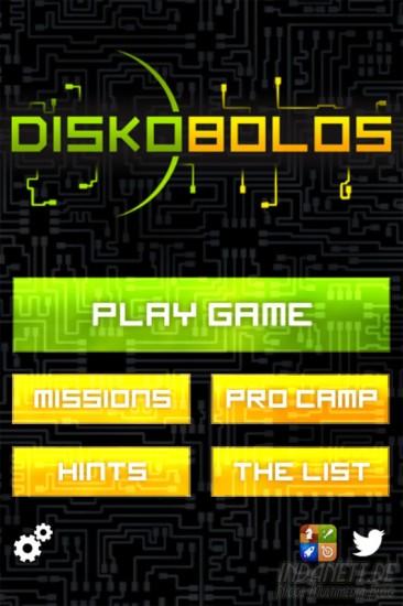 Diskobolos - Startscreen