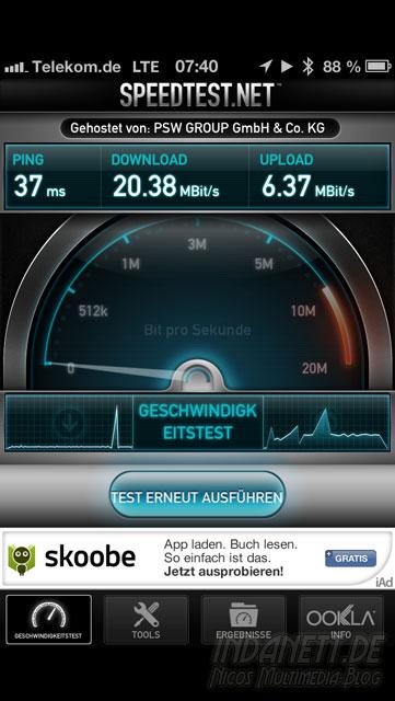LTE-Speedtest Telekom