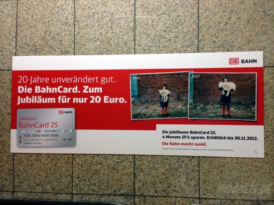 Bahncard-Werbung