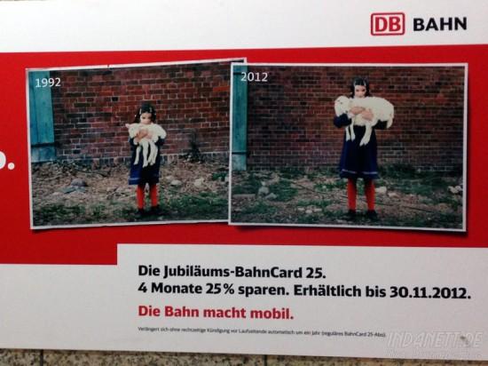 Bahncard-Werbung - Detail