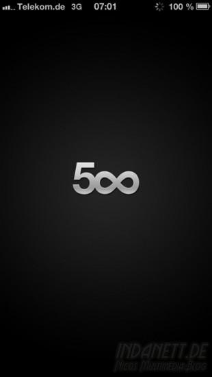 500px - Startbildschirm