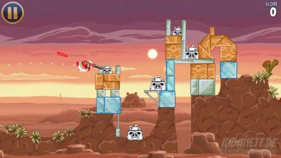 Angry Birds Star Wars - Spielszene