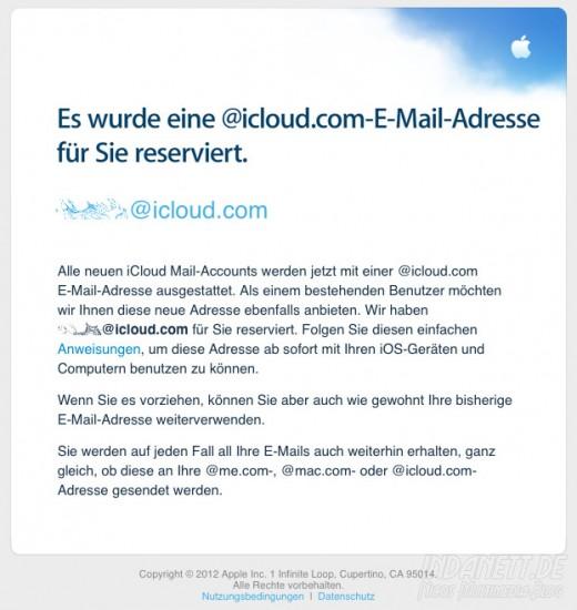 icloud-Mailadresse