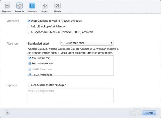 icloud-Adresswahl