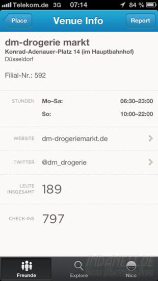 Foursquare-Update Screenshot 2