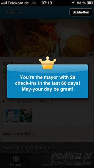 Foursquare-Update Screenshot 3
