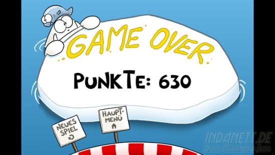 Yetipipi - Game over