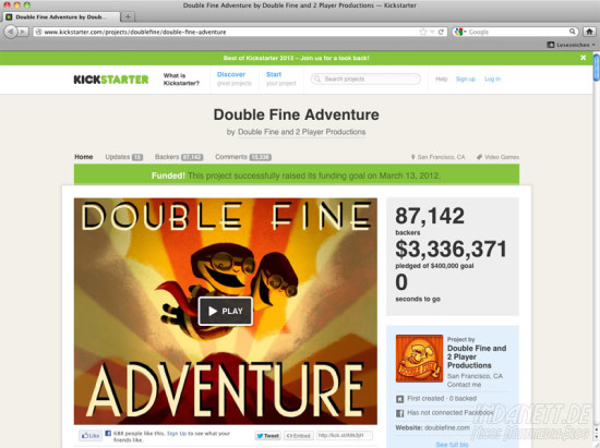 Screenshot Doublefine 2013