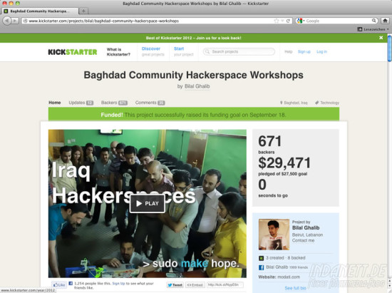 Screenshot Hackerspace 2013