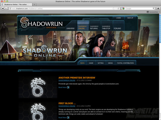 Screenshot Shadowrun Online 2013