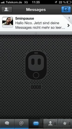 Netbot Private Messages - Nachricht