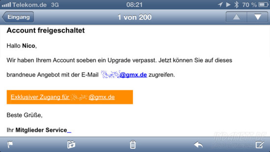 Spam-Mail 1