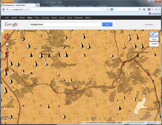 Google Maps Schatzkarte