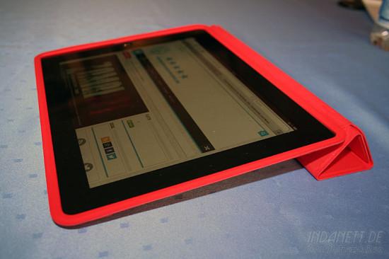 iPad Smart Case aufgeklappt