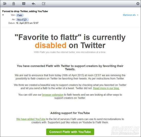 Kein Fattr mehr bei Twitter