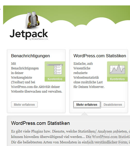 Wordpress-Statistik deaktivieren - Schritt 2