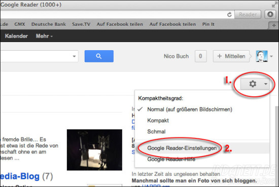 Googlereader Export Teil 1