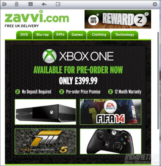 Xbox One Vorbestellung