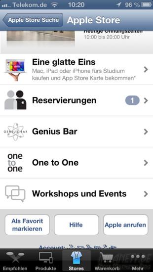 Apple Store Reservierung 1