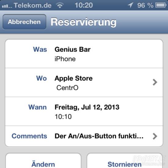 Apple Store Reservierung 2