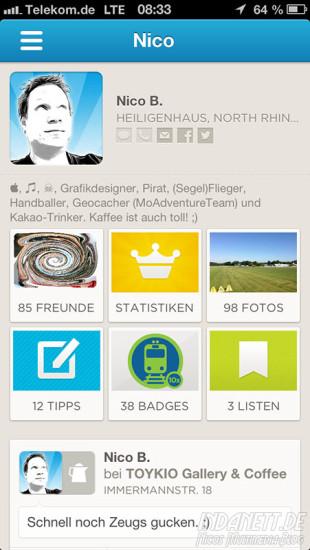 Foursquare-Profil