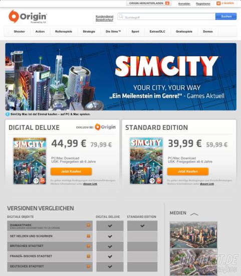 Simcity Origin