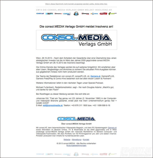 ConsolMedia Insolvenz