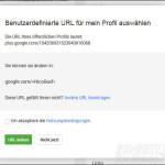Google URL - URL auswählen