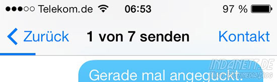 iMessage Problem iOS 7