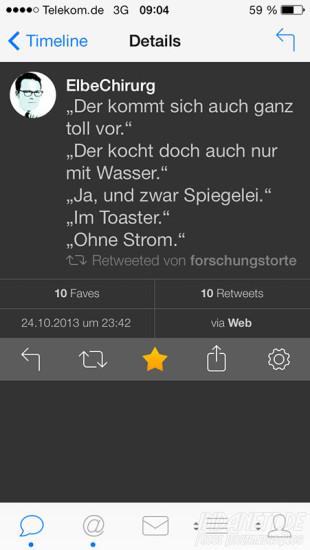 Tweetbot 3 - Detailansicht