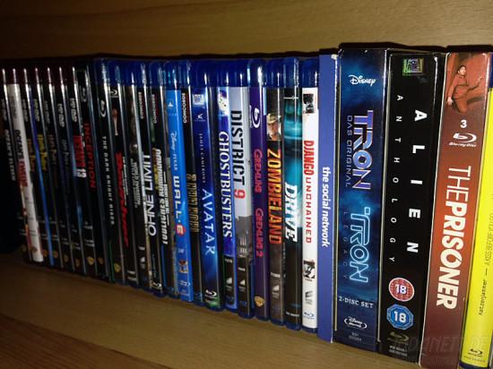 DVDs und Blurays