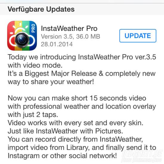 InstaWeather Pro Update