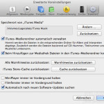 Screenshot iTunes Media Umzug