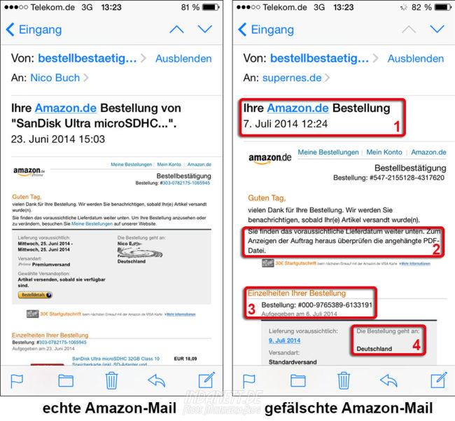 Amazon Gefälschte Mail