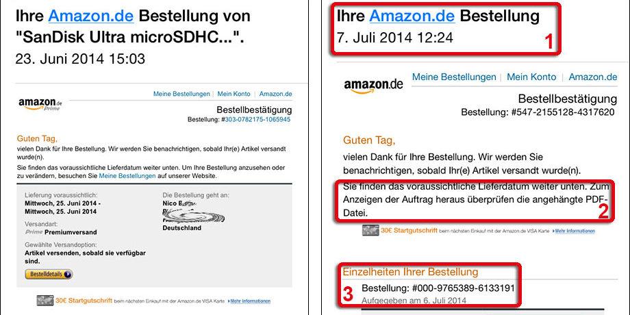 Amazon Fake Mails