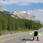 hitchBot in den Rockymountains