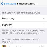 Batterienutzung iOS 8
