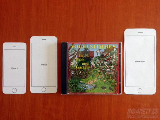 iPhone 6 Größenvergleich mit CD