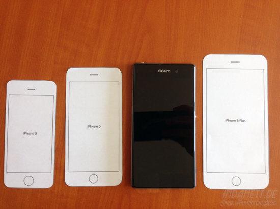iPhone 6 Größenvergleich mit Sony Z1